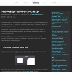 Roundrect roundup, tips on drawing rounded rectangles in Photoshop