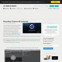 Roundup: Cinema 4D tutorials « From up North.