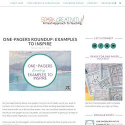One-Pagers Roundup: Examples to Inspire