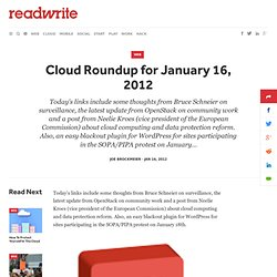 Cloud Roundup for January 16, 2012 - ReadWriteCloud