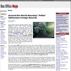 Around-the-World Brief: 'Potter' Obliterates Foreign Record