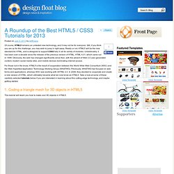 A Roundup of the Best HTML5 / CSS3 Tutorials for 2013