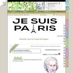 Rousseau, essai sur l'origine des langues