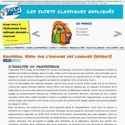 Rousseau, Essai sur l'origine des langues (extrait) - [Philofacile.com]