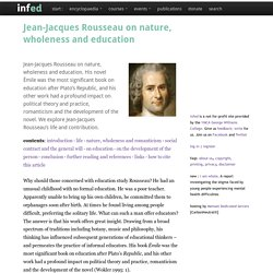 jean-jacques rousseau on nature, wholeness and education