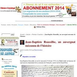 Jean-Baptiste Roussilhe, un cantalien méconnu de l'histoire
