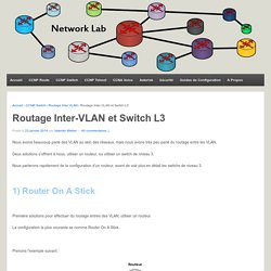 Routage Inter-VLAN et Switch L3