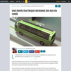 Une route électrique recharge des bus en Corée