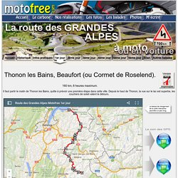 La route des grandes alpes moto voiture