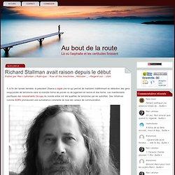 Richard Stallman avait raison depuis le début#more