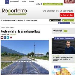 Route solaire: le grand gaspillage