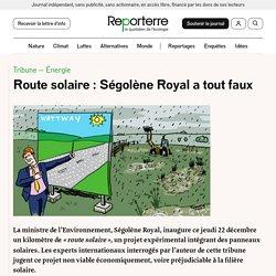 Route solaire: Ségolène Royal a tout faux