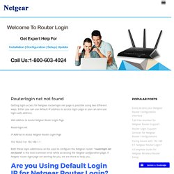 192 168 http routerlogin net Access