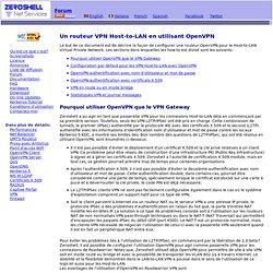 Un routeur VPN Host-to-LAN en utilisant OpenVPN