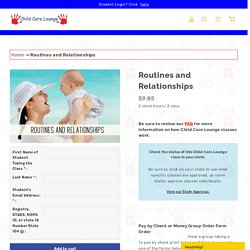 Routines and Relationships Online Class