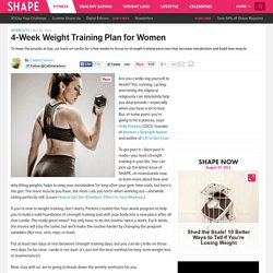 Workout Routines for Women: 4-Week Weight Training Plan