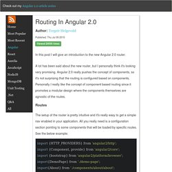 Routing in Angular 2.0