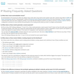 IP Routing Frequently Asked Questions