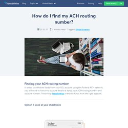 How do I find my ACH routing number? - TransferWise