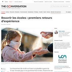 Rouvrir lesécoles: premiers retours d'expérience