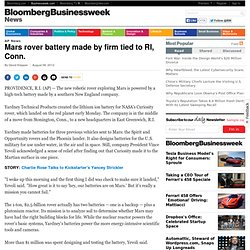 battery on mars rover - photo #34