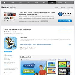 Rover - The Browser for Education for iPad on the iTunes App Store