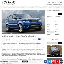 Land Rover unveils Range Rover Sport SVR