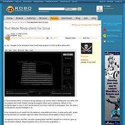 Text-Mode Rovio client for Linux: RoboCommunity