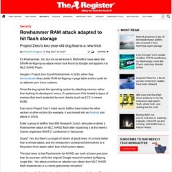 Rowhammer RAM attack adapted to hit flash storage