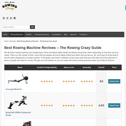 Best Rowing Machine Reviews - Best of 2017