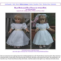 Royal Bridesmaid Dress Pattern for 18 Inch Dolls