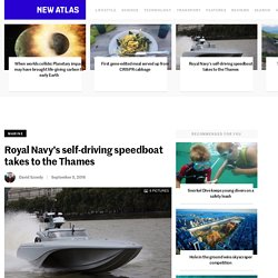 Royal Navy's self-driving speedboat takes to the Thames
