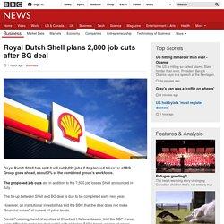 Royal Dutch Shell plans 2,800 job cuts after BG deal