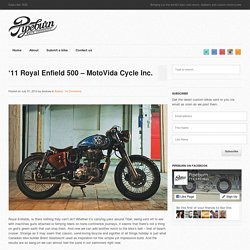 '11 Royal Enfield 500 – MotoVida Cycle Inc.