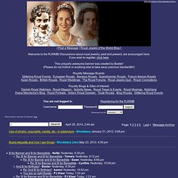 Royal Jewels of the World Message Board