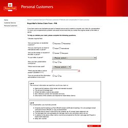 Royal Mail Online Claim Form
