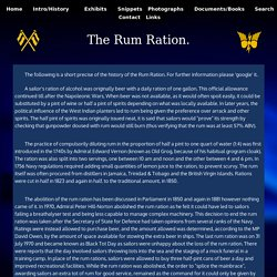 Royal Navy Rum Ration