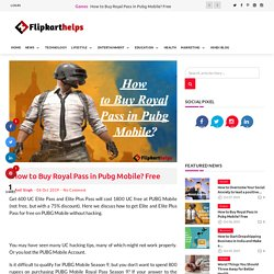 How to Buy Royal Pass in Pubg Mobile? Free