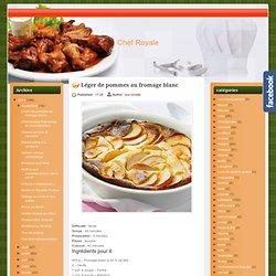 Léger de pommes au fromage blanc