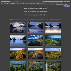 Isle Royale National Park - Large format photography - US National Parks Large Format stock photos