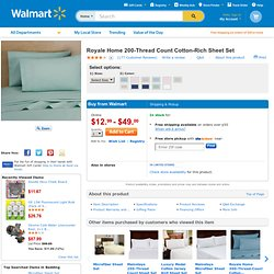 Royale Home 200-Thread Count Cotton-Rich Sheet Set: Bedding