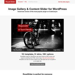 RoyalSlider for WordPress - Touch-Based Image and Content Slider
