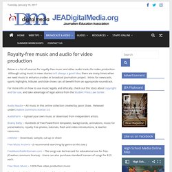 Royalty-free music and audio for video production