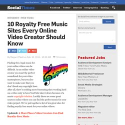 10 Royalty Free Music Sites Every Online Video Creator Should Know
