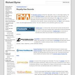 Royalty-free Sounds - Richard Byrne