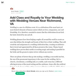 Wedding Venues Near Richmond, VA