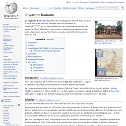 Royaume bamoun