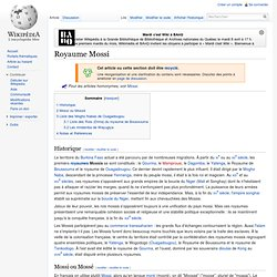 Royaume Mossi wikipedia