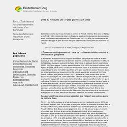 Dette du Royaume-Uni : l'État, provinces et villes - Endettement.org