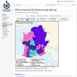 Le royaume des Francs en 556-560